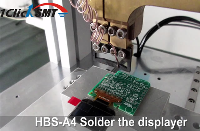 Displayer soldering